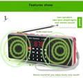Mini Portable Radio Speaker Player With Super Bass Stereo Sound Support TF Card And USB Flash Drive