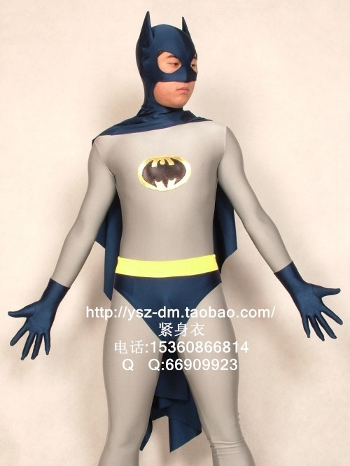 Tibetan Blue & Grey Batman Superhero Costume