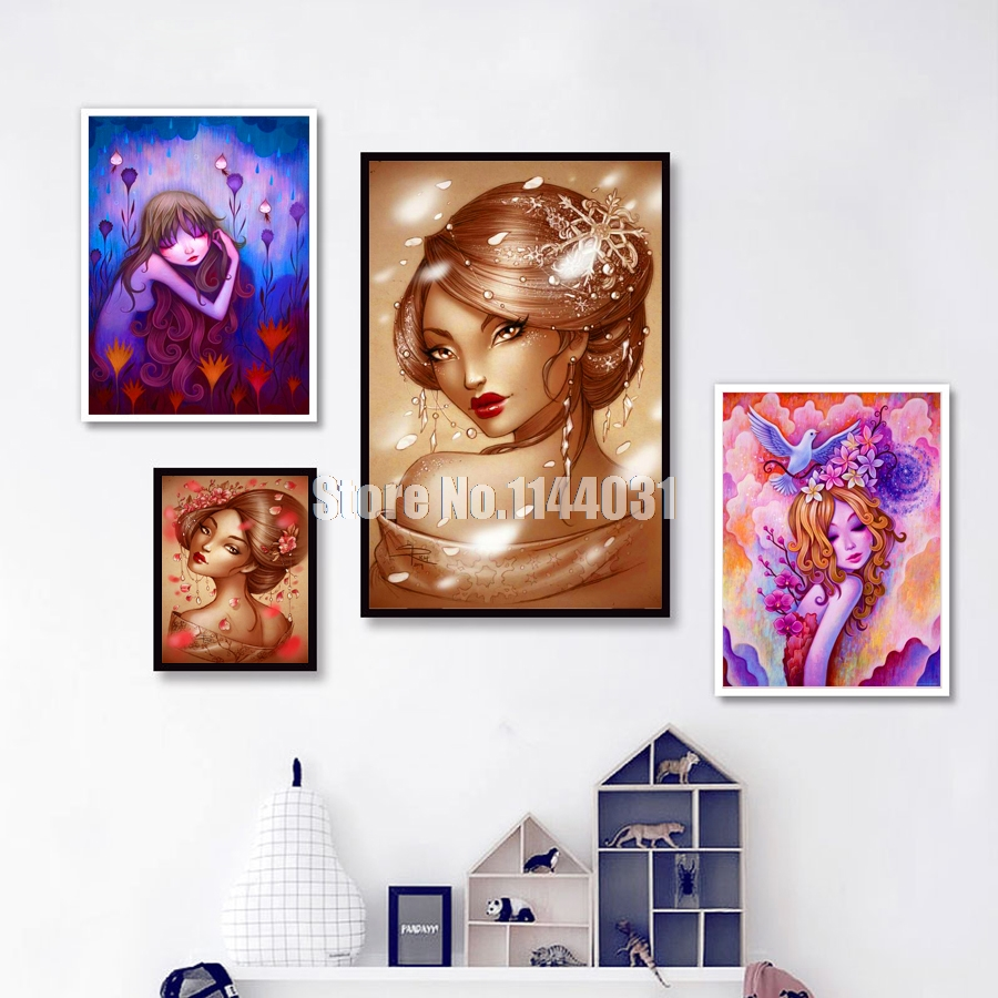 Diamond Painting Cross Stitch Needle Arts & Crafts Diy Diamond Painting Cartoon Girl Pictures Cross Stitch Kits Full Square Diamond Embroidery Defor For Room Mosaic Needlework