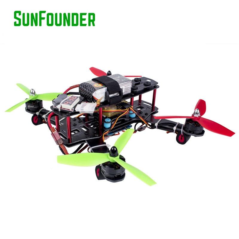 SunFounder Falcon 250 FPV Quadcopter Dron CC3D Controller 12A Motor ESC MT2204 Racer Flying 4 Axis