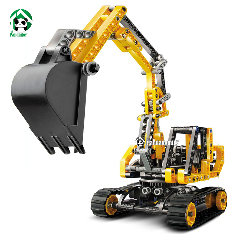 Pandadomik Excavator Building Blocks Bricks Toys Models & Building ...