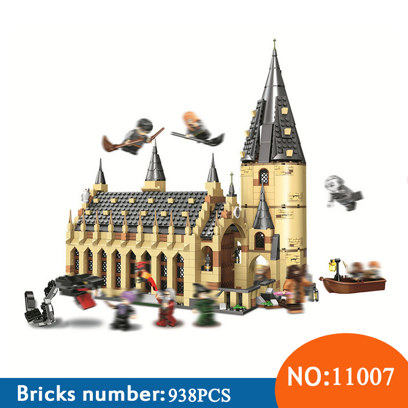 Бела 11007 Гарри Поттер Serices Хогвартс большой зал Совместимость 75954 Гарри Поттер строительные блоки кирпичи игрушки для детей