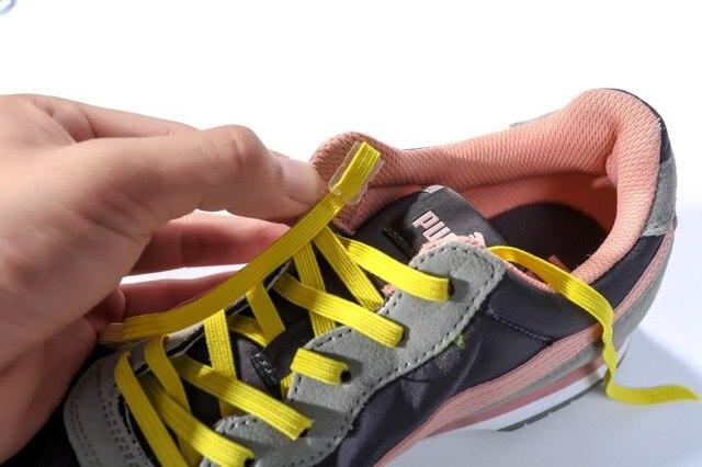 cafc49d324641 Cordones Elásticos perezosos Zapatos Planos de la Hebilla de la Cinta de  Zapatos Cordones de los ...