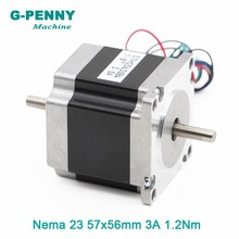 NEMA 23 CNC Stepper Motor 57x56 nema 23 stepping motor 3A 1.2N.m shaft 6.35mm 172Oz-in for CNC engraving machine 3D printer nema34 stepper motor 86x66mm 3n m 4a d14mm stepping motor 428oz in nema 34 for cnc engraving machine and 3d printer