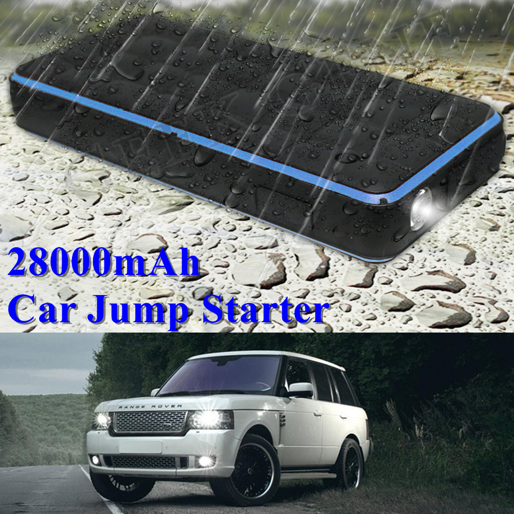 IP65 Waterproof 28000mAh Car Jump Starter 1000A Portable Starting Device Power Bank 12V Car Charger For Car Battery Booster LED