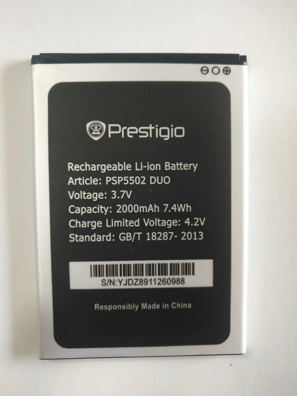 For Prestigio PSP5502 Muze <font><b>A5</b></font> (PSP3507 wize N3) 2000mAh Mobile Phone Li-ion <font><b>Battery</b></font> Replacement image