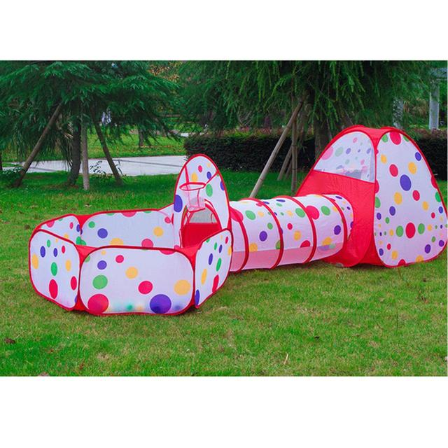 3pcs/set Foldable Kids Toddler Tunnel Pop Up Play Tent Toys For Children Indoor Outdoor  sc 1 st  AliExpress.com & 3pcs/set Foldable Kids Toddler Tunnel Pop Up Play Tent Toys For ...