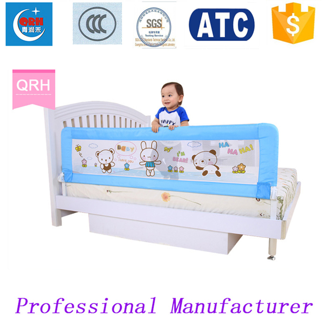 Foldable Children Bed Guard Baby Rail Kids Fence