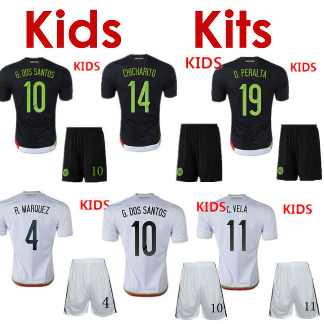 29a853aaf ... australia soccer jersey mexico kids 2015 mexico children uniform black  mexico kids white 15 16 g