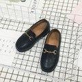 2017 Весна Дети PU Leather Shoes Casual Детские Toddle Shoes для Мальчиков Британский Квартиры Shoes Меховые Девушки Кроссовки Плюшевые Дети Shoes