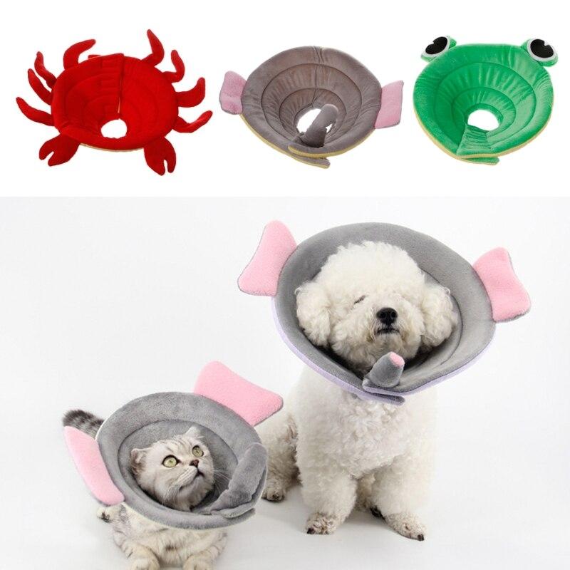 Dog Elizabeth Collar Anti Bite Lick Adjustable Protector Cover Ring Animal Shape