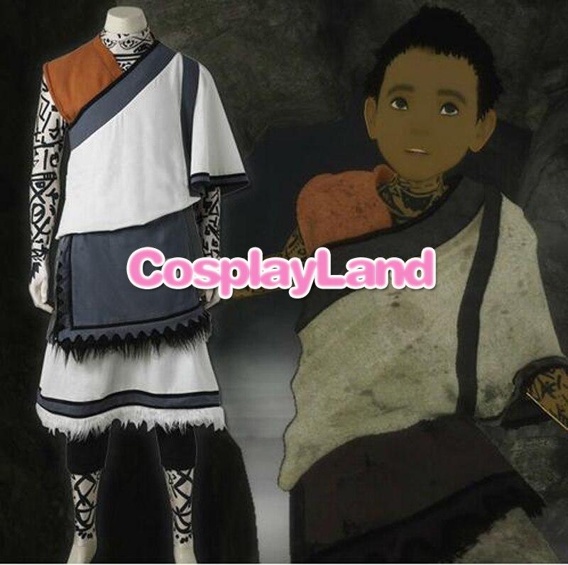 The Last Guardian Косплэй костюм PS4 Игра Наряд молодой мальчик одежда унисекс для взрослых Для мужчин Хэллоуин Карнавал индивидуальный заказ