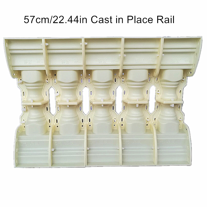 57cm (22.44 In) Classic Bottle Shape Cast In Place Concrete Balcony Baluster(With Rail) Mold /Gardening DIY Cement Fencing