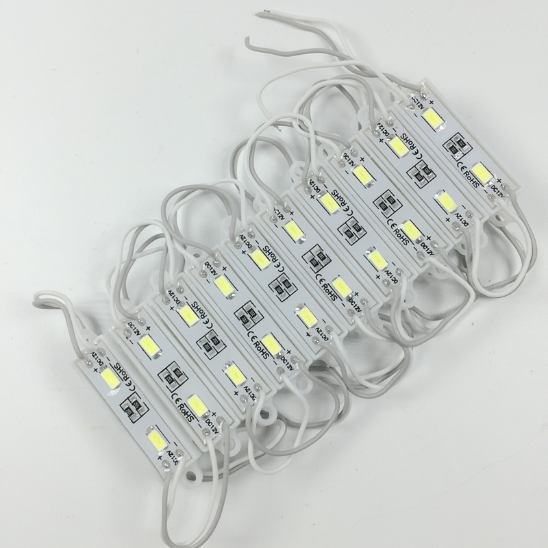 1000pcs 5730 2 LED Module DC12V Waterproof Mini led modules Cool White LED Lighting Module for Signage Brighter than 2835