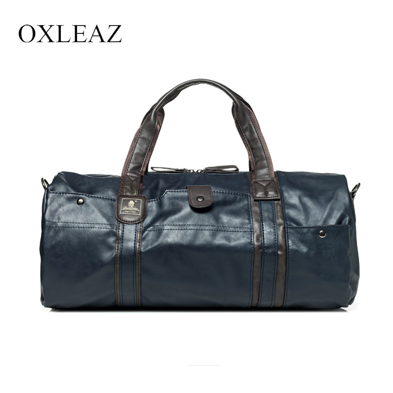 OXLEAZ Large Waterproof Travel Bag for Women Hand 2018 Vintage Mens Leather Travel Duffle Bags Pu