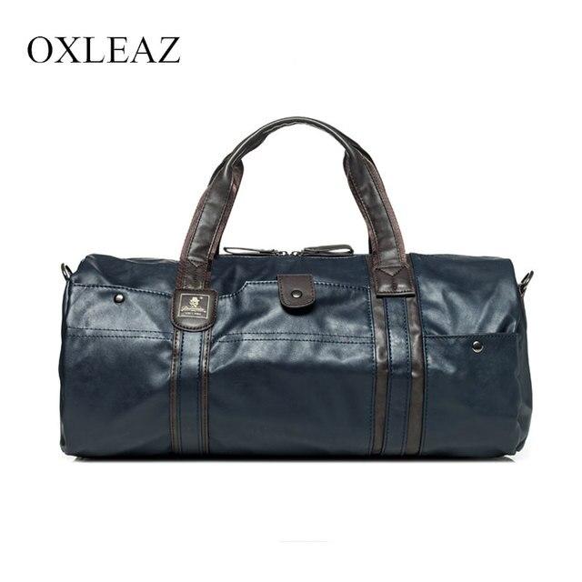 OXLEAZ большая водостойкая дорожная сумка для женщин ручная 2018 винтажная мужская кожаная дорожная сумка из искусственной кожи