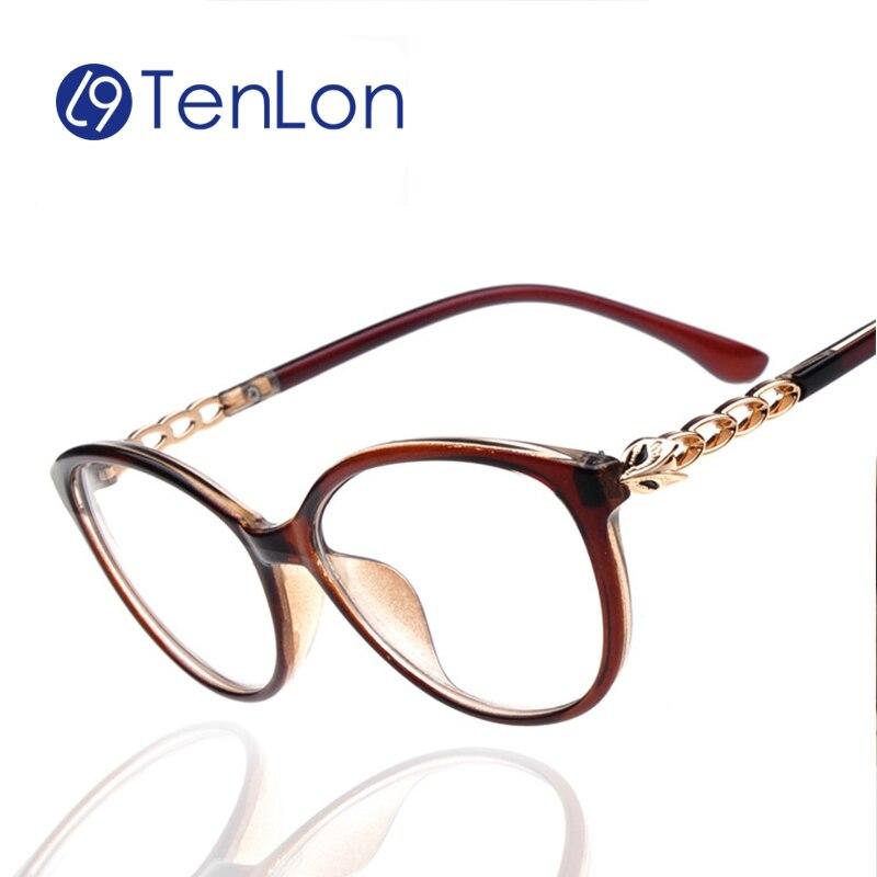 Glasses Frame Temple : TenLon Glasses Women wicker temple Eyeglasses oculos de ...