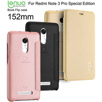 PU Flip Leather Case For Xiaomi Redmi Note 3 Pro Prime Special Edition Lenuo Case For