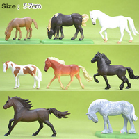 1 Set Anime Horse Model 5 7 CM Plastic Simulation Animal Figure Toys For Children Kids