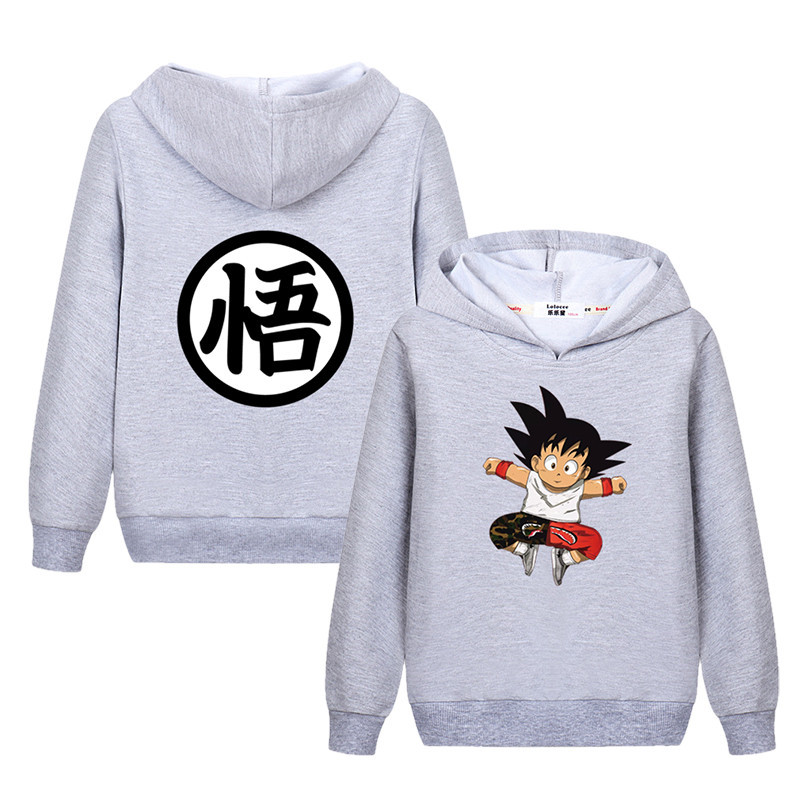 Kids Classic Pullover Hoodie Soft Hooded Sweatshirts Anime Long Sleeve Cotton T-Shirt for Boys Girls