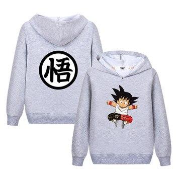 Lolocee kids Goku cartoon hoodie Boy girl anime funny sweatshirt New autumn tops hoodies child Dragon Ball casual clothes coats 1
