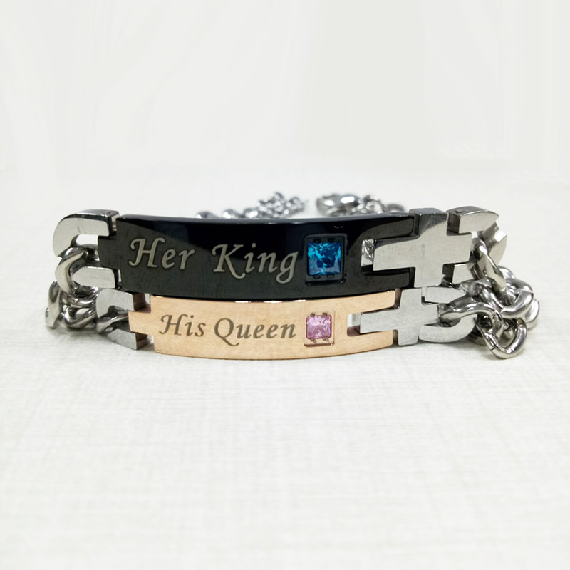 Her King and His Queen Couple Bracelet Bracelets Jewelry Women Jewelry