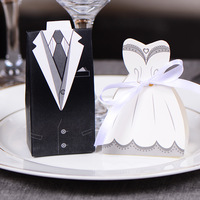 10pc Elegant Candy Box For Wedding Sweet Bag Wedding Favors Gift For Guest Bride Groom Wedding