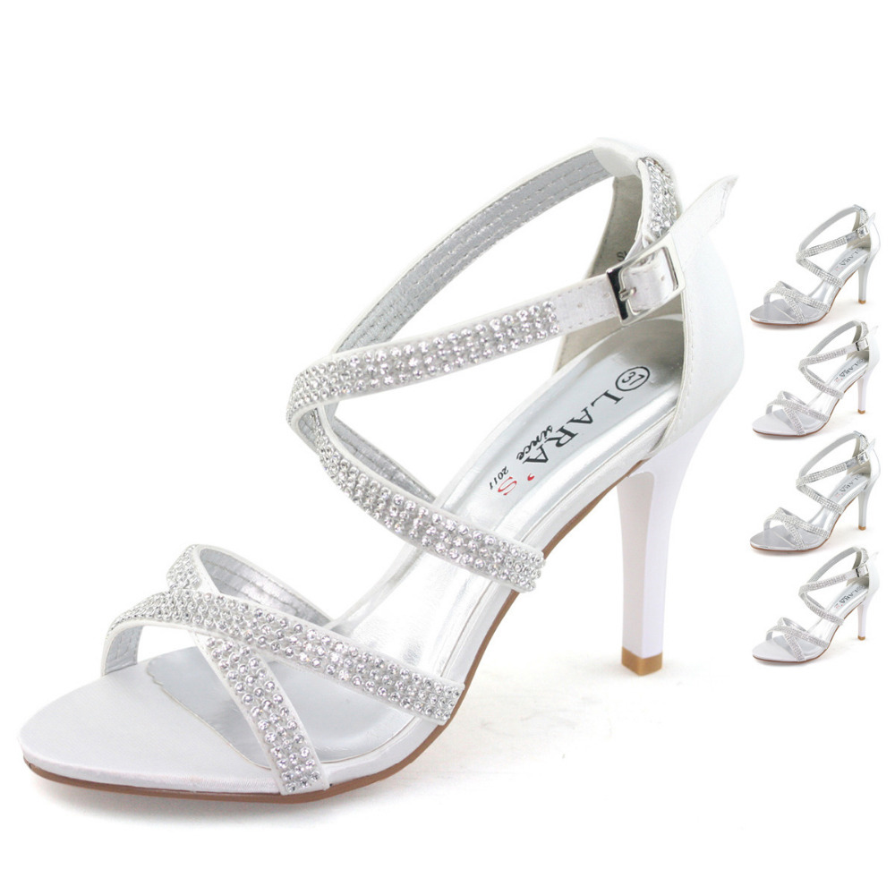 Sandals honeymoon shoes with rhinestone - Aliexpress Com Buy Shoezy Brand New Wedding Shoes Women Sandals Party High Heels With Rhinestone Diamante Pearl Sexy Crystal Bridal Bridesmaid Shoe From