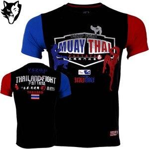 VSZAP Boxeo майка для бокса MMA Спортивная футболка для занятий боксом Фитнес Спорт Муай Тай хлопковая дышащая удобная футболка