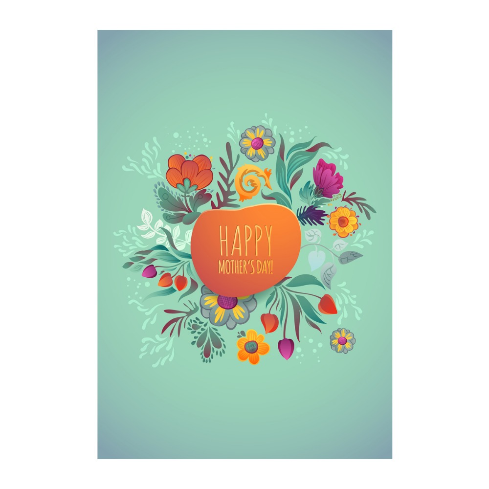 Aliexpress.com : Buy Happy Mother\'S Day! Leaves, Flowers And Drops ...