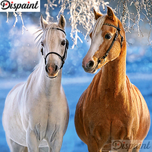 Dispaint Full Square/Round Drill 5D DIY Diamond Painting Animal horse scenery 3D Embroidery Cross Stitch Home Decor A18888