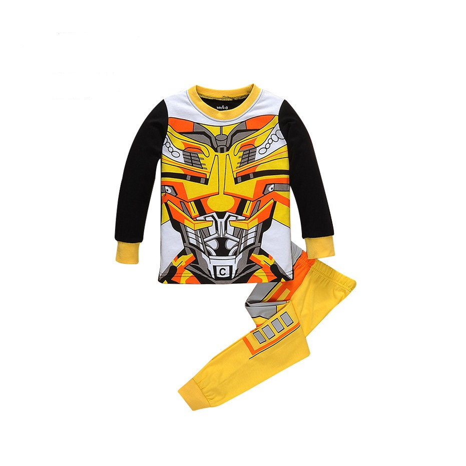 2017 New Children Outfits Tracksuit Robot Clothing Children T-shirt + Kids Pants 2 pcs kids Sport Suit Boys Clothing Set P002 2017 new boys clothing set camouflage 3 9t boy sports suits kids clothes suit cotton boys tracksuit teenage costume long sleeve