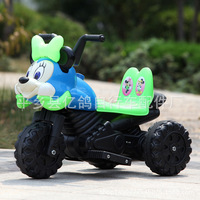 New Carton Mickey Mine Children Electric Motorcycle Tricycle Baby Can Sit On Beetle Drive by kids