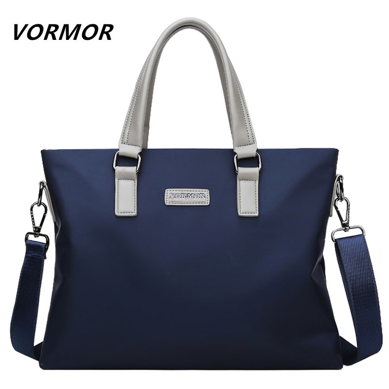 VORMOR Brand New High Quality Men Briefcase Bag Office Fashion Shoulder Bag Men's Hand Bag Business Laptop Handbag