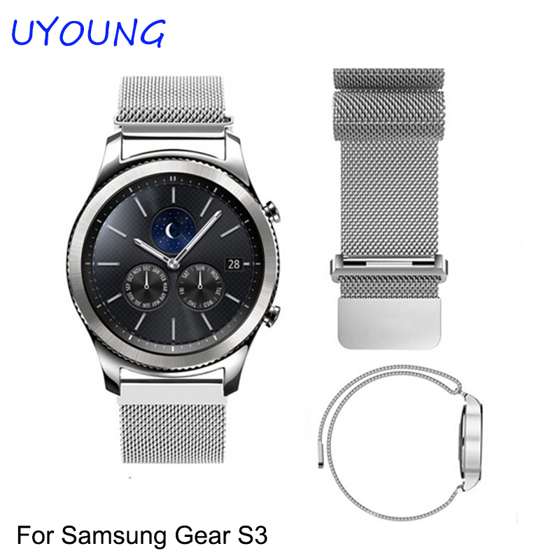 Aliexpress.com  Buy For Samsung Gear S3 Classic/Forntier Smart Wristband  22mm Milannese Bracelet Stainless Steel Watch bands With Magnetic Clasp  from