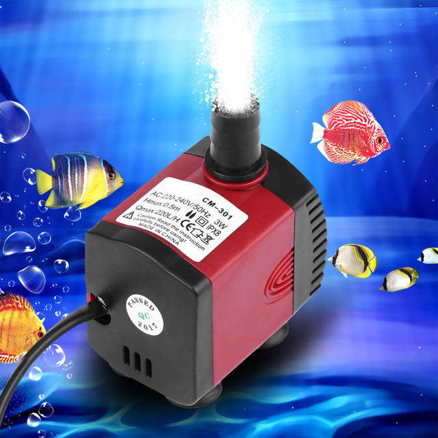 5faabf7076a8 220V Water Pump Ultra quiet 3 6 10 15 25 35 50W Mini Submersible Water Pump  For Aquarium Pond Garden Fish Tank Pool-in Water Pumps from Home   Garden  on ...
