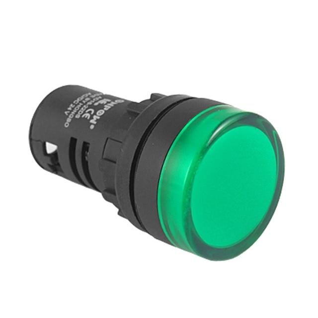 Panel Mount Green Pilot Light Signal Indicator Lamp Ac Dc