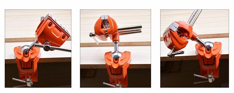 alumínio giratória mesa braçadeira vice inclinações girar 360 graus trabalho universal
