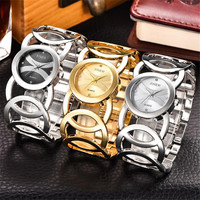 Luxury Crystal Gold Watches Women Ladies Quartz Wristwatches Bracelet Relogio Feminino Relojes Mujer Silver Clock Wholesale