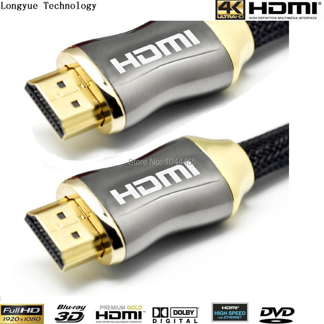 Wholesale 100pcs/lot GOLD 10m (30FT)HDMI v1.4 PREMIUM Cable HDTV 3D 1080P 2160P Lead metre