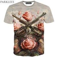 Guns N Roses Printed Men Women 3D T Shirt Short Sleeve 2015 New Summer Slim Fit