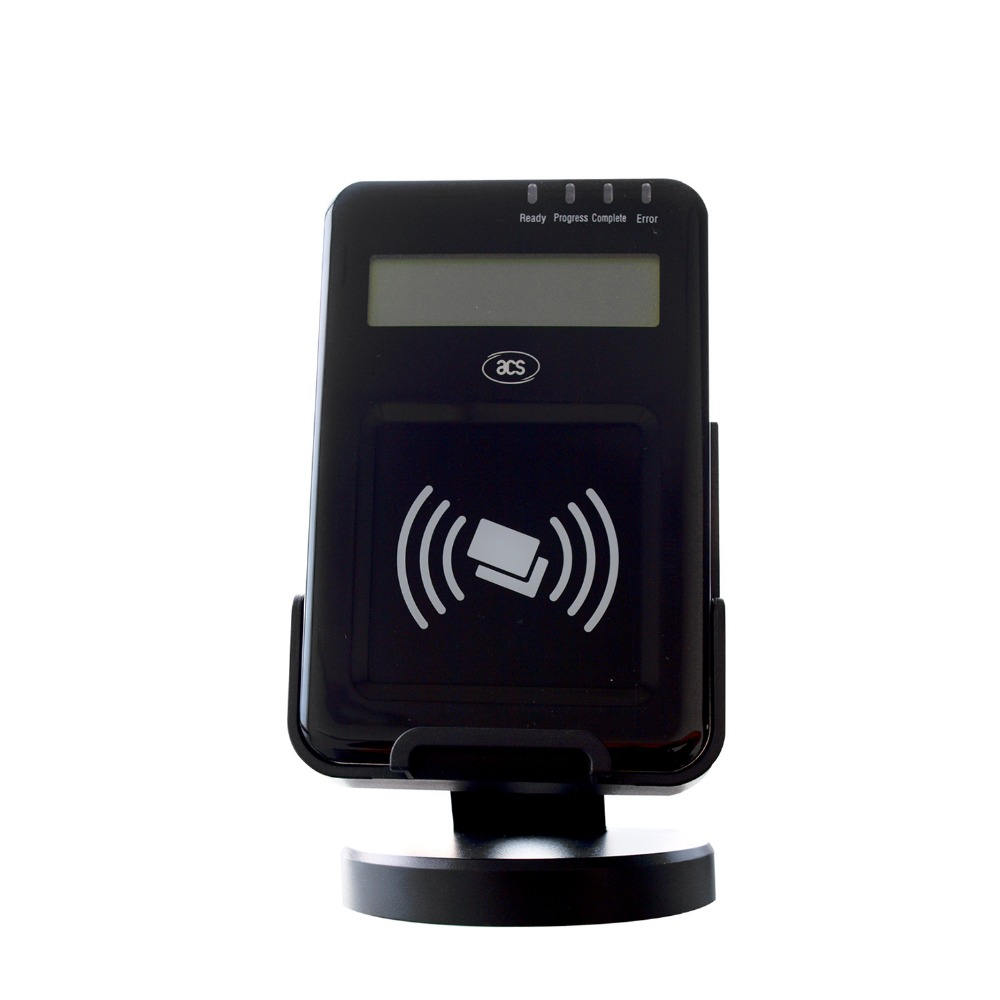 Payment POS Credit Card ISO1443 PC RFID  Compliant Contactless USB NFC Smart Reader With LCD Screen Reader ACR1222L