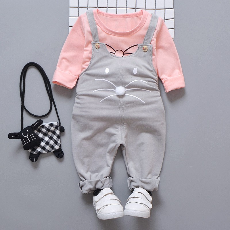Spring newborn baby girls clothes sets fashion suit T-shirt pants suit baby
