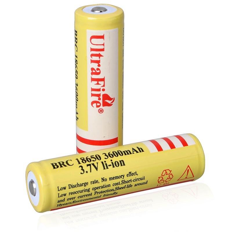 2pcs/ lot BRC 18650 3600mAh Rechargeable Li-ion Batteries High Quality 18650 Battery for Flashlights tangsfire imr18650 3 7v 1800mah rechargeable li ion 18650 batteries black yellow 2 pcs