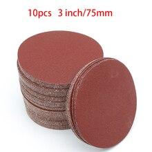 Disques abrasifs, grain 60 à 2000, 3 pouces, 75mm, pour ponceuse Dremel, 10 pièces, accessoires, auto adhésif
