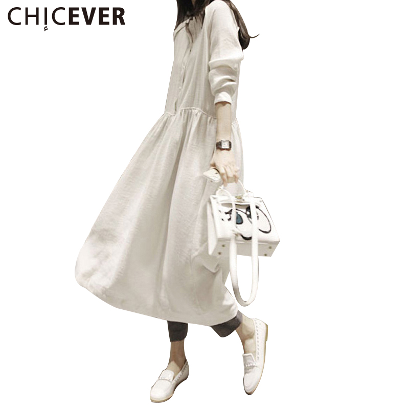 CHICEVER 2017 Summer font b Dress b font Women Long Sleeve Loose Vintage Black font b