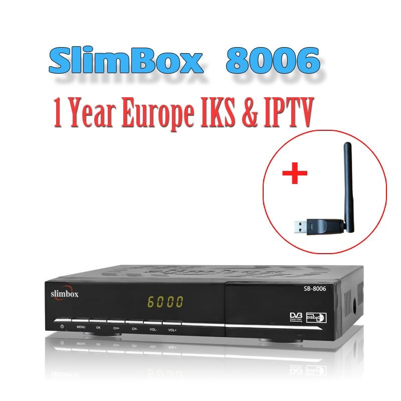 Slimbox 8006 DVB S2 H 265 satellite receiver 1 year cline