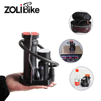 Zolibikeポータブル自転車ポンプミニバイクフットプレス空気ポンプ用バイクアクセサリーサイクリングパーツ仏式&シュレー