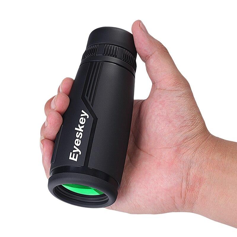 Eyeskey HD Nero BAK4 Ottica Portatile Azoto Impermeabile 8x42 10x42 Zoom Monoculare Telescopio Binoculare per la Caccia il Viaggio di scoperta