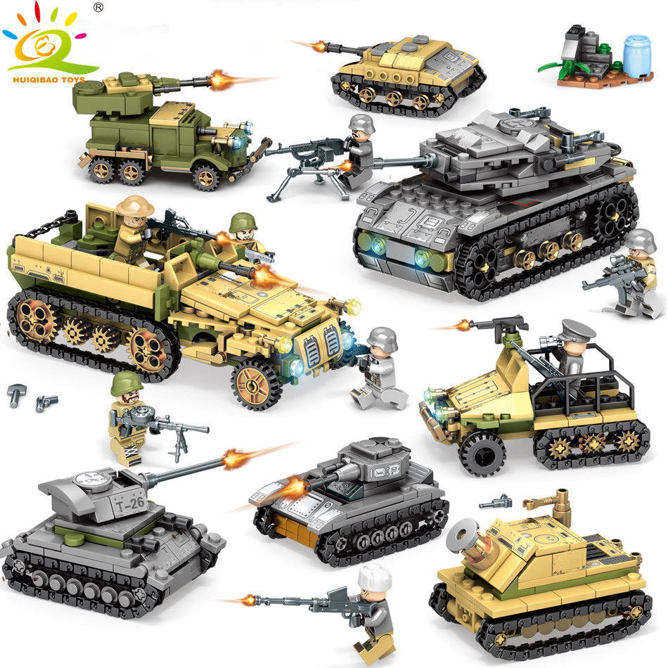 1061PCS 8in2 WW2 Army truck Plane Tank Building Block Set legorreta Military Car Weapon Soldier Bricks Figures Toys for Children1061PCS 8in2 WW2 Army truck Plane Tank Building Block Set legorreta Military Car Weapon Soldier Bricks Figures Toys for Children